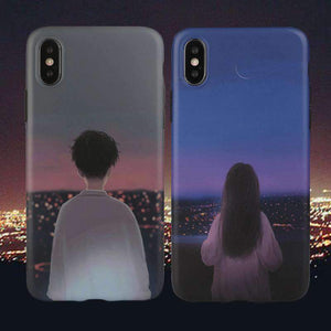 Boy & Girl Print Soft Phone Case for  Apple iPhone