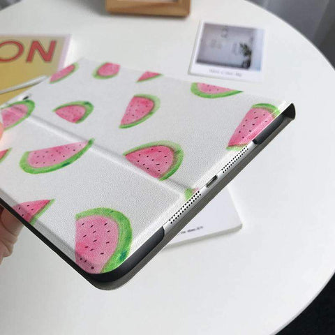 Contracted Fresh Watermelon Painted Apple iPad Cover Case gallery 4