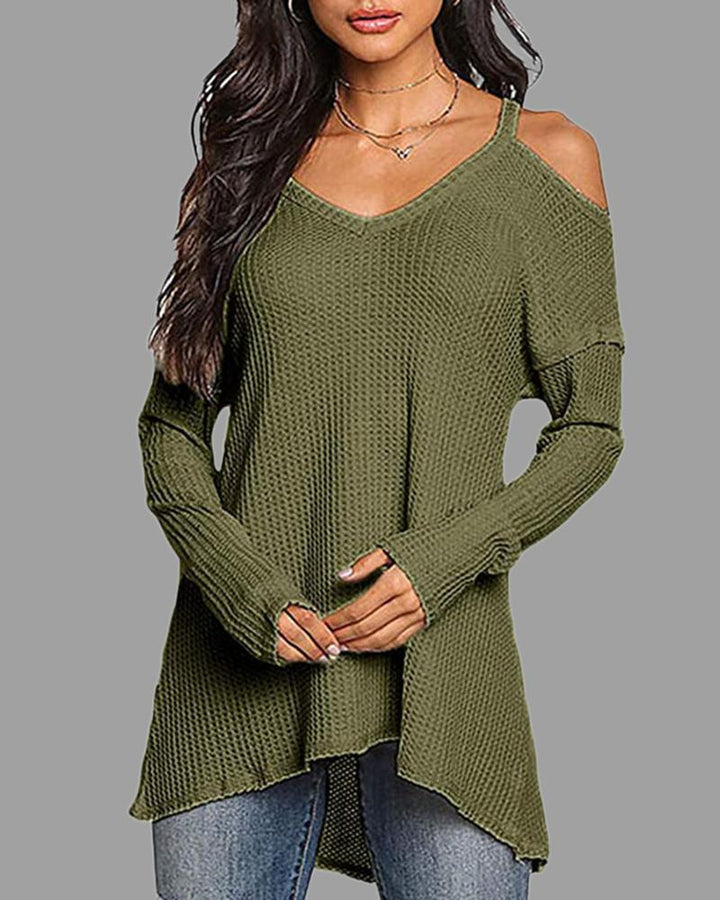 Solid Ribbed Cut Out Cami Sweater gallery 1