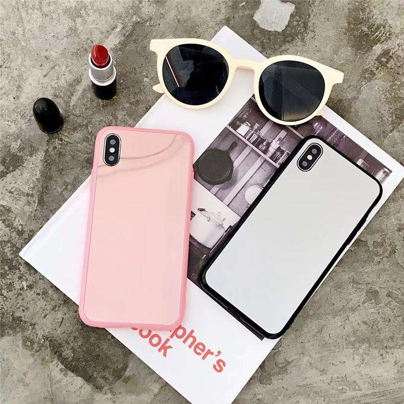 643311898c68b1 New Arrived Mirror Style Phone Case For Iphone With Phone Holder And String