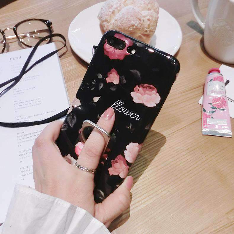 Floral Pink iPhone Case