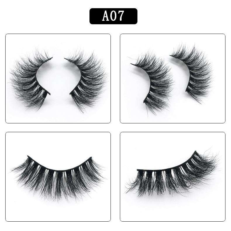 Mink Hair Natural Fake Eyelashes Cross Thick Eye Lashes 1Pair A07