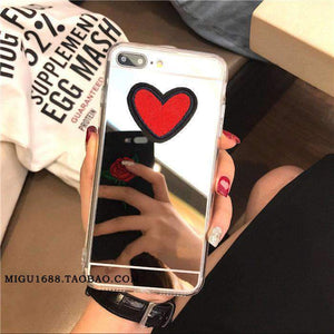 Embroidery Heart Pattern Phone Case for Apple iPhone