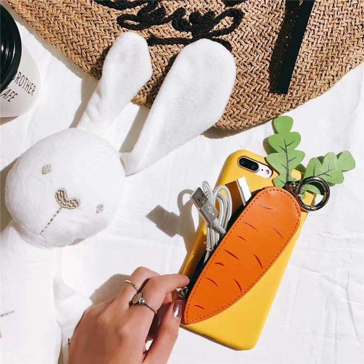 Creative Carrot Style Little Bag iPhone Case