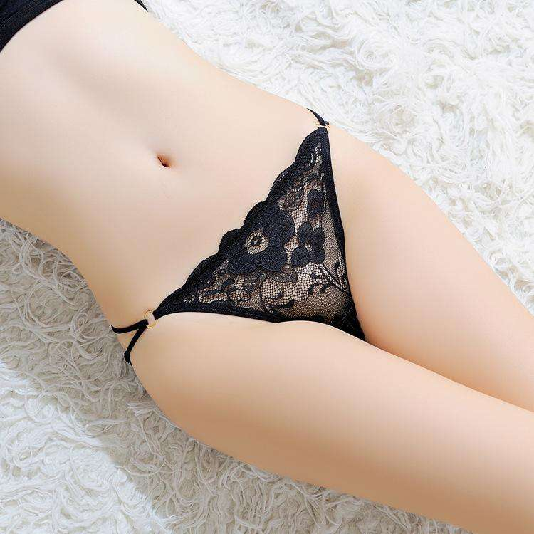 Textured Lace T-Back With Ruched Side Panty (3Pcs)