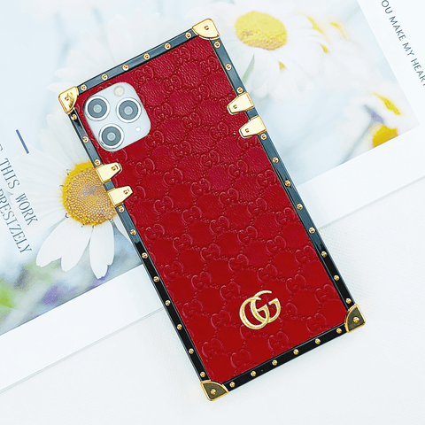 Golden Double G Pattern iPhone Case
