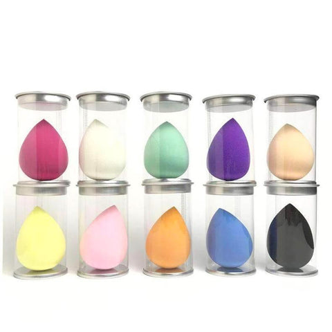 Set of Functional Makeup Sponge Blender Puff With Container Box
