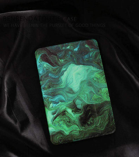 Abstract Green Painting Apple iPad Cover Case gallery 3