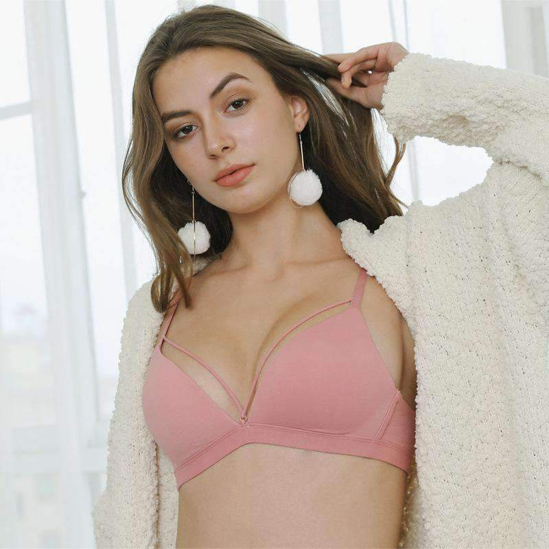 Cotton Soft Wireless Bra (2Pcs)