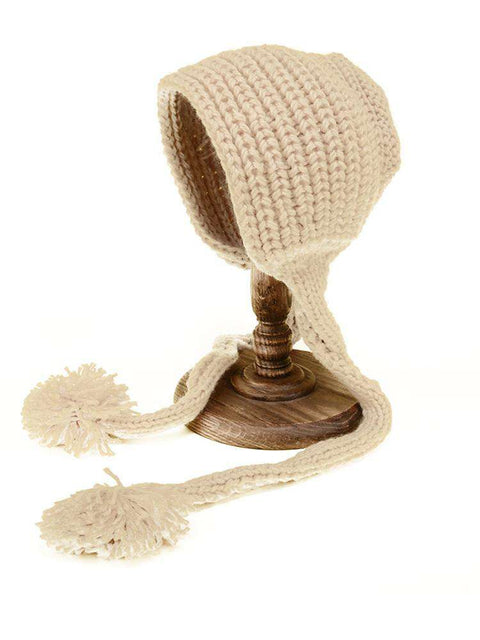 Hand-made Cute Warm Knitted Woolen Ear Hat with Long Braid gallery 11