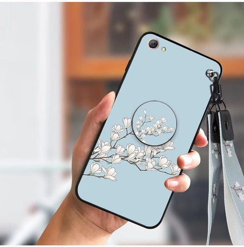 Literary Floral Pattern Phone Case for Samsung with Phone Holder gallery 3