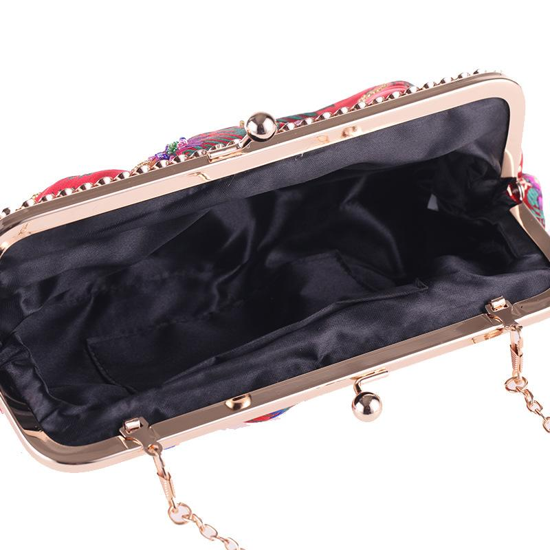 Embroidery Buckle Vintage Evening Bag Clutch Purses