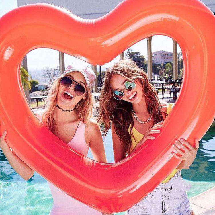 Heart Shape Inflatable Party Vacay Pool Float