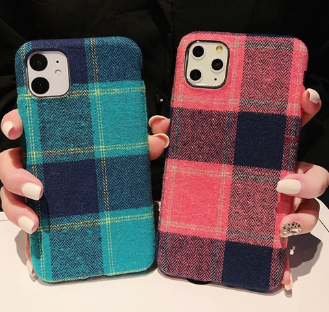 Simple Plaid Style Pattern iPhone Cases