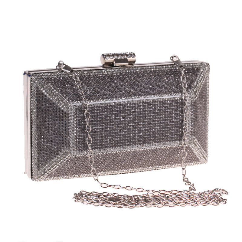 Square Glitter with Buckle Evening Bag Clutch Purses