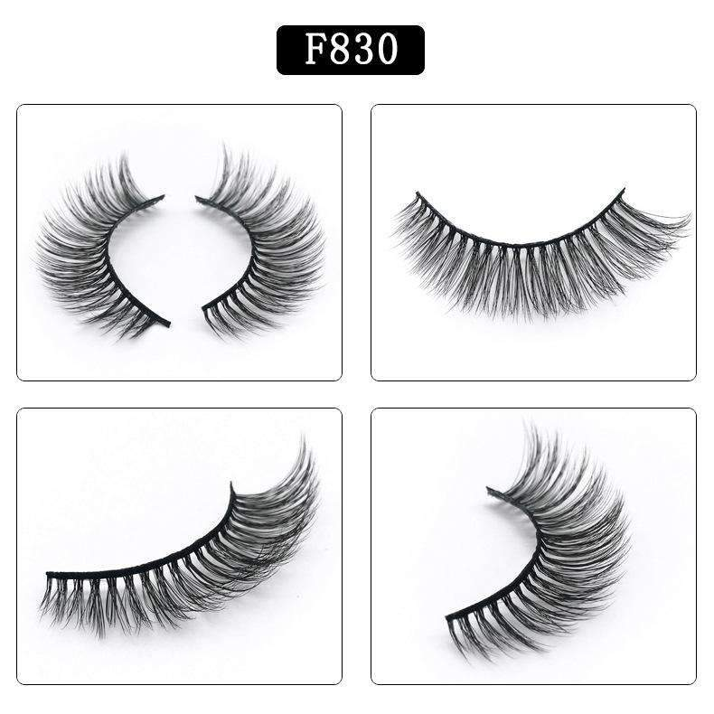5 Pairs Mink Hair False Fake Eyelashes Cross Thick Eye Lashes F830