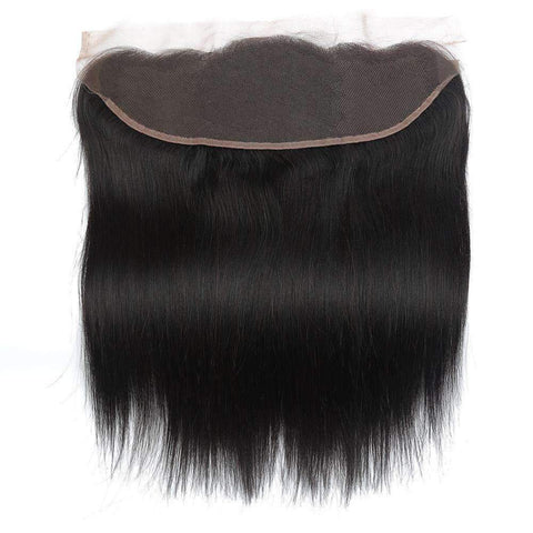 Brazilian Straight Wave With 4X13 Frontal Lace Closure gallery 3