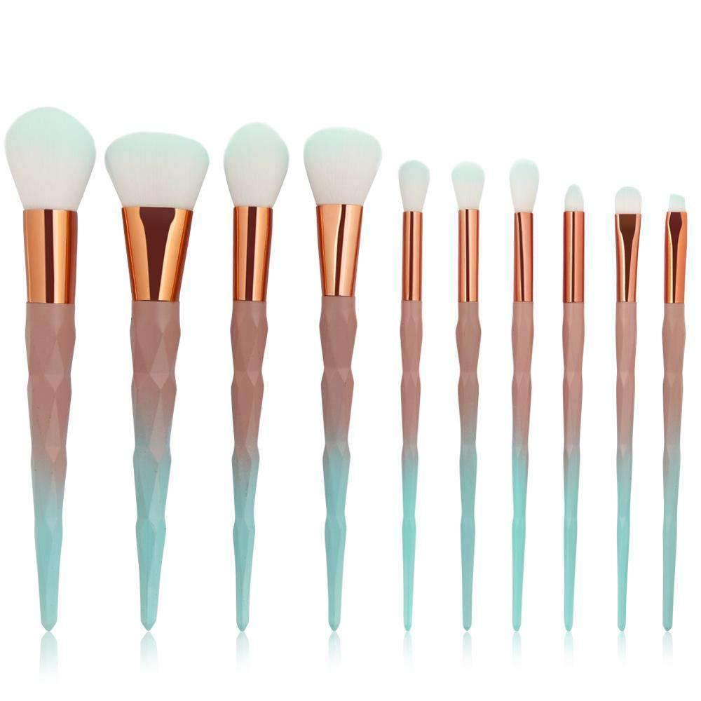 10 Pcs Coral Boutique Make-up Brush Set