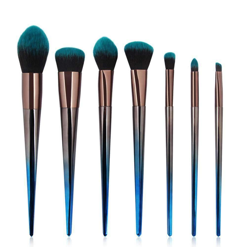 7 Pcs Ombre Blue Make-up Brush