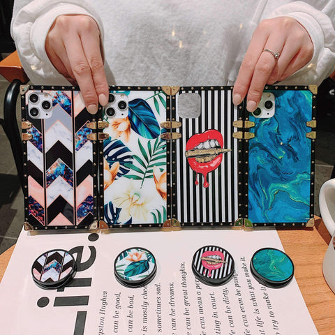 Floral Print Phone Case for Samsung with Phone Holder gallery 11