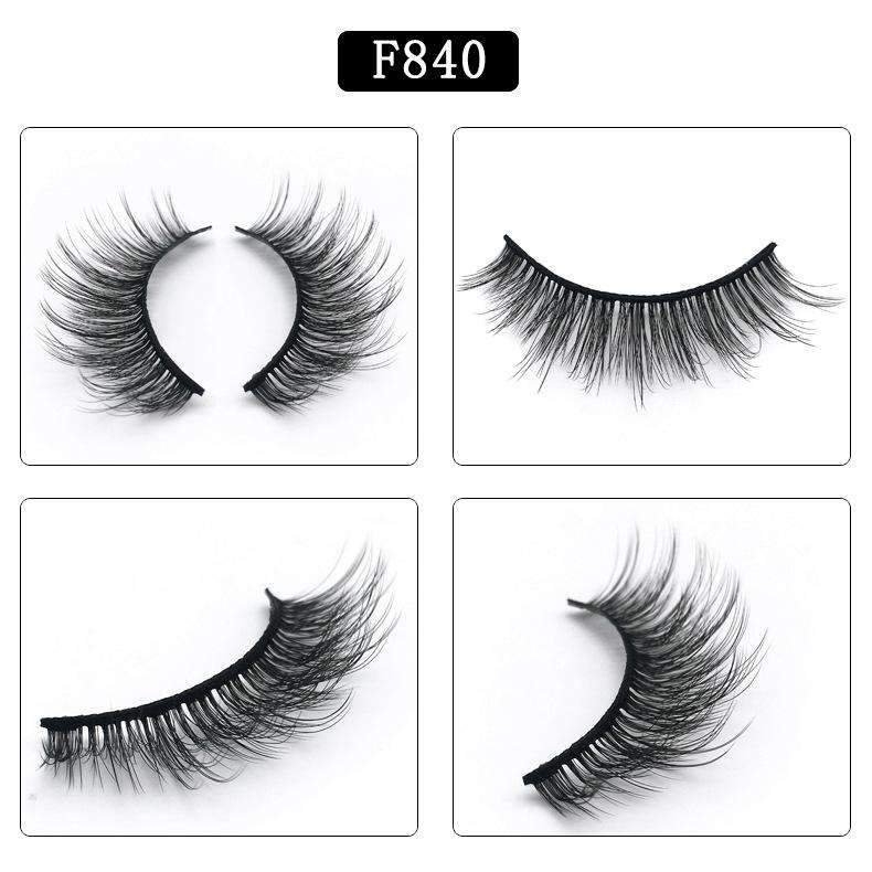 5 Pairs Mink Hair False Fake Eyelashes Cross Thick Eye Lashes F840