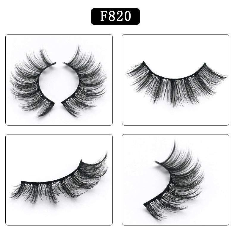 5 Pairs Mink Hair False Fake Eyelashes Cross Thick Eye Lashes F820