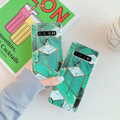 Marble Electroplated Detail Phone Case for Samsung gallery 2