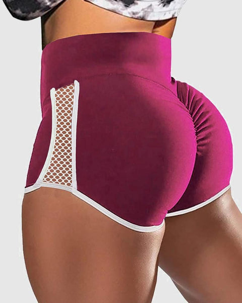 Hollow Out Side Scrunch Butt Sports Shorts gallery 4