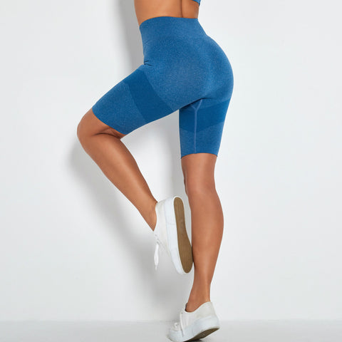 Contrast Panel Butt Lifting Sports Shorts gallery 2
