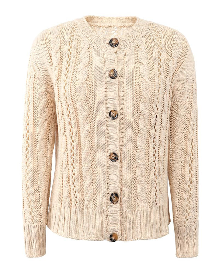 Chunky Knit Button Front Sweater gallery 6