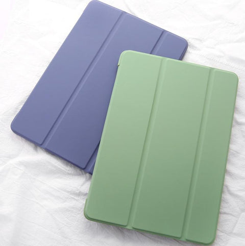 Pure Color Foldable iPad Cover Case gallery 1