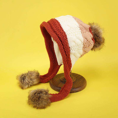 Women's Winter Cute Assorted Color Warm Thick Hat gallery 8