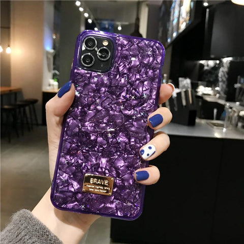 Four Colors Marble Shining Phone Case for Samsung gallery 4
