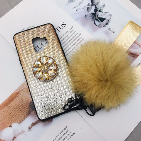 Gradient Shining Phone Case for Samsung with Phone Holder and Pom-pom gallery 8
