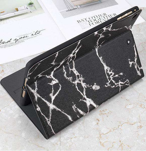 Vintage Marble Texture Stand Flip Tablet Case Cover for Apple iPad gallery 5