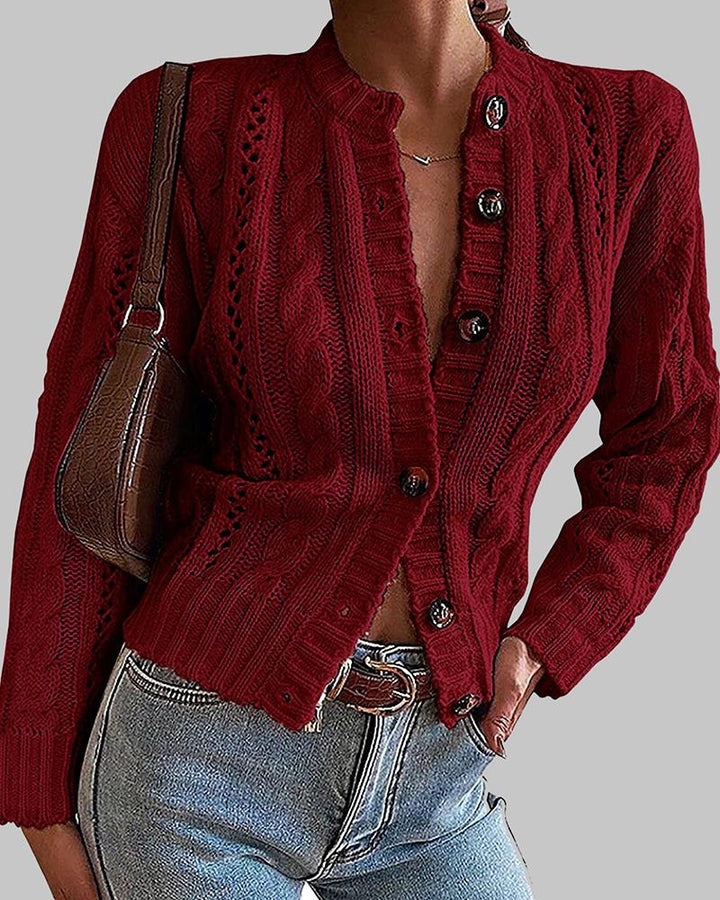Chunky Knit Button Front Sweater gallery 3