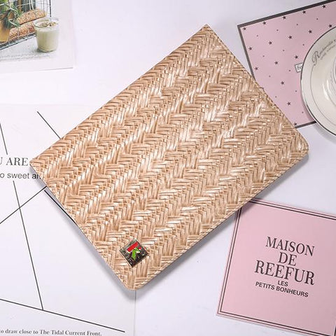Knitted Grain Pure Color Foldable iPad Cover Case gallery 4