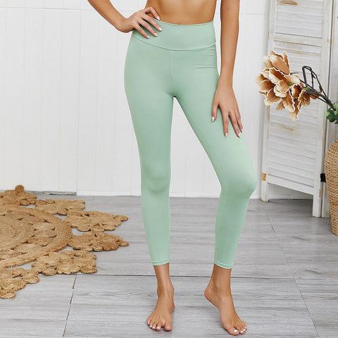10 Colors Hip Lifting Hyper Flexible High-Rise Tummy Control Workout Leggings gallery 31
