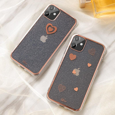 Cute Electroplate Heart/Diamond Pattern Phone Case for Samsung gallery 1