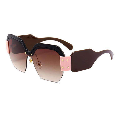 Chic Mirrored Flat Lens Wide Frame Sunglasses gallery 2