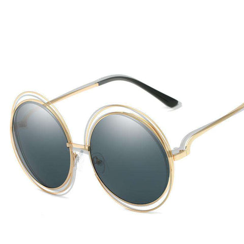 Ombre Double Frame Hollowed Sunglasses gallery 4