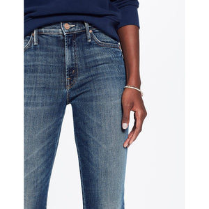 High Waist Straight-Leg Zip Crop Jeans