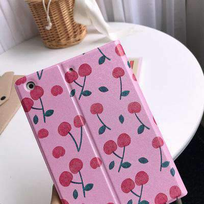 Contracted Fresh Cherry Painted Apple iPad Cover Case gallery 2