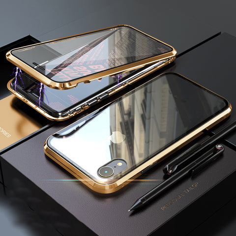 Ultra Slim Magnet Protective iPhone Case with Metal Frame