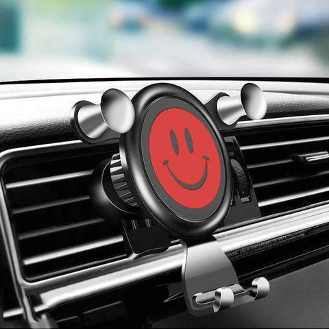 Cute Smile Face Car Vent Mount for Mobile Phone