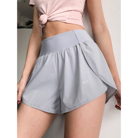 Pocket Patched Side Wide Waistband Sports Shorts gallery 2