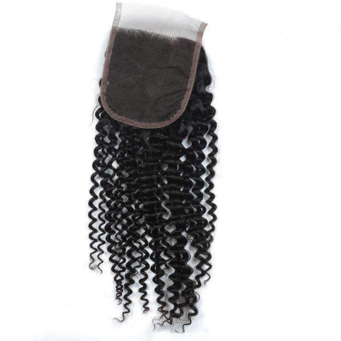 Deep Wave Human Hair With 4X4 Lace Frontal Closure gallery 2