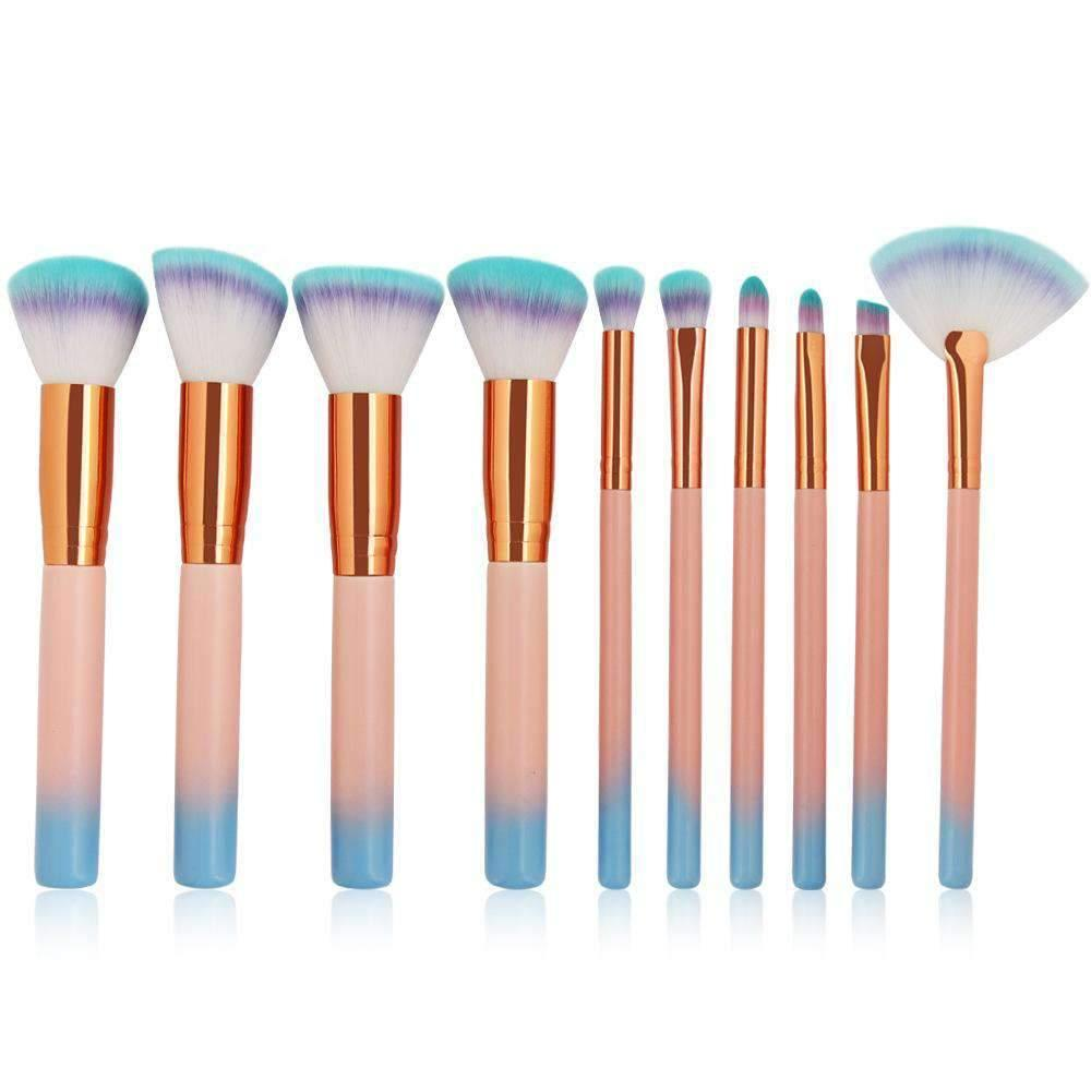 10 Pcs Ombre Gradient Make-up Brush