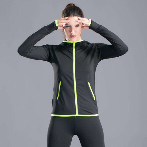 Leisure Zippered Sports Yoga Long Sleeved Coat