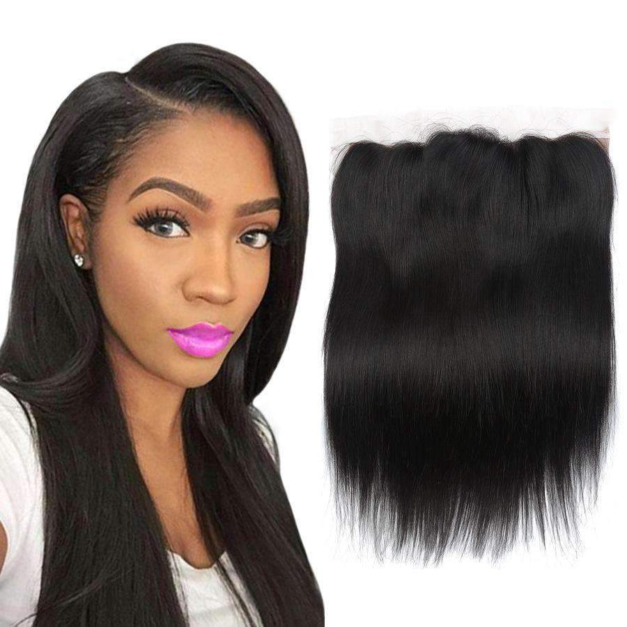 Brazilian Straight Wave Human Hair with 4X13 Lace Closure
